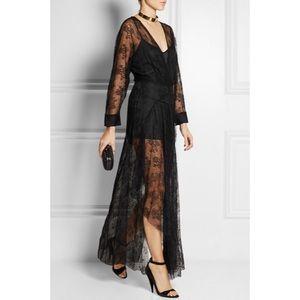 NWT MAJE GABRIELA LACE MAXI BLACK DRESS MSRP $520